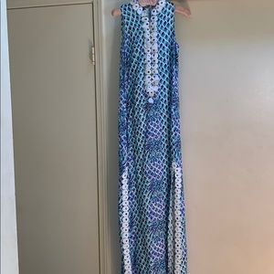 Lilly Pulitzer Toe In Pineapples Jane Maxi Dress 0